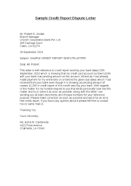Letters To Dispute Credit Sample Letter To Dispute Credit Report Green Brier Valley