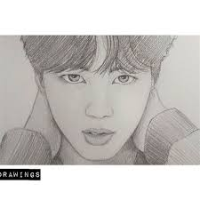 (the process will be shown at the end of the blog and also individual description will be provided with each photo) Super Easy Bts Drawing Jin Shefalitayal