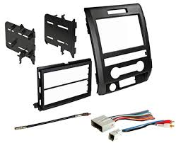 09 12 f 150 double din car stereo dash install trim kit bezel w Car Stereo Color Wiring Diagram Wiring Harness Kit For Car Stereo #27
