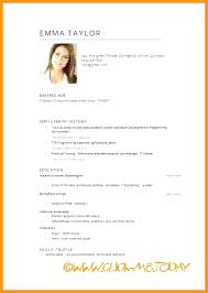 English Curriculum Vitae Curriculum Vitae English Example Pdf Useful Sample Also Word