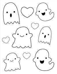 Kawaii Cute Drawings Of Ghost Outlines My Pinterest Halloween