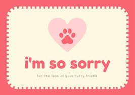 sympathy card pet customize 162 pet sympathy card templates online canva