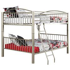 Silver Pewter Metal Full Heavy Duty Bunk Beds All American