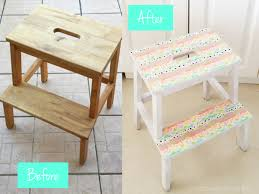 before after step stool