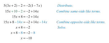 general guidelines for solving linear equations