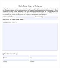 Boy Scout Letter Of Recommendation For Eagle Scout Sample Eagle Scout Letter Of Recommendation 9 Download Documents