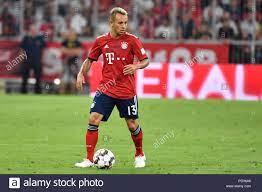 Munich, Deutschland. 05th Aug, 2018. RAFINHA (Bayern Munich), Action,  Single Action, Single Image, Cut Out, Full Body, Whole Figure. Test match  FC Bayern Munich-Manchester United 1-0, Football 1. Bundesliga, Season  2018/2019, on