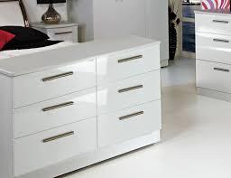 Bonita Modern White High Gloss 7-Drawer Chest