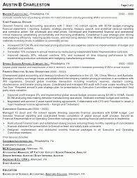 Resume Sample 4 Vice President Of Operations Career Resumes