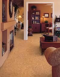 Living Room Tile Floor Floor White Pillars Design With Cork Tiles Flooring Also Wall Art