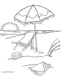 Free Summer At The Beach Coloring