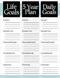 Life Planning Templates The 3 Steps To A 5 Year Plan How To Plan 5 Year Plan