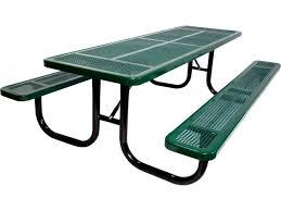 8 extra heavy duty perforated picnic table upt 9630 outdoor
