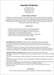 Professional Franchise Owner Templates To Showcase Your Talent Fascinating My Perfect Resume Com