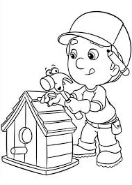 Small Picture Handy Manny Making Bird House Coloring Page Download Print