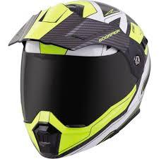 Scorpion Exo Exo At950 Tuscon Hi Viz Modular Dual Sport Helmet Black White Hi Viz Xs 95 0602