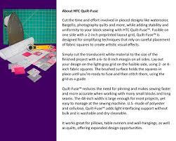 Quilt-Fuse Fusible Non-Woven Layout Grid – HTC3240-1 – Monfil.ca & Quilt-Fuse ... Adamdwight.com