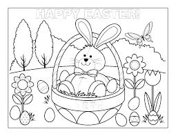 Coloring Pages For Easter Kids Coloring Pages Eggs Bigfashioninfo