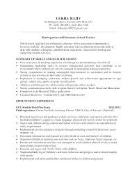Sample Resume Formats Best Of Elementary School Teacher Resume Template Sample Elementary School