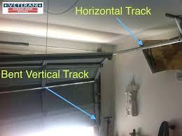 bent garage door repair garage door rail track pleasant my garage door tracks are bent should bent garage door repair
