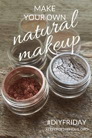 not so long ago i discovered that you can make your own natural makeup at