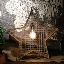 industrial chic lighting. Metal Star Light   Hanging Lamp Industrial Chic Lighting Industrial Chic Lighting C