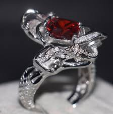 whole professional fashion jewelry 925 sterling silver cushion shape red 5a cz zirconia party women wedding