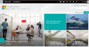 Create Sharepoint Site Template Build A Modern Sharepoint Intranet Using Communication