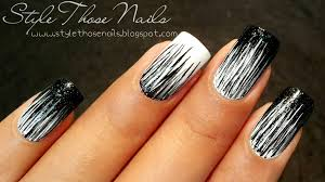 Pictures Of Black And White Nail Designs Black And White Nail Designs Makar Bwong Co