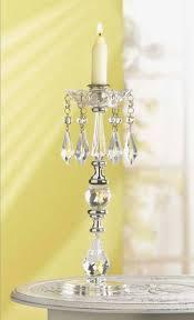 clear crystal single candelabra