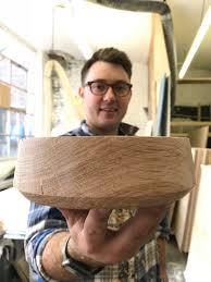 Money For Nothing Designers Handmade Large Oak Bowl Ollie Allen Award Winning Furniture Designer