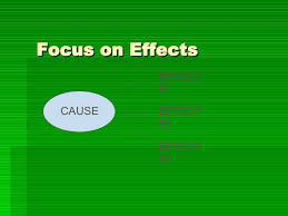 cause and effect essay focus on effects cause effect 1 effect 2 effect 3