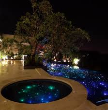 outdoor lighting effects. The Fiber Optics Can Also Be Used With Colored Optic Or LED Pool Lighting To Create Beautiful Effects. Outdoor Effects