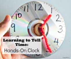 make a hands on clock sop kids can move the hands to learn to tell