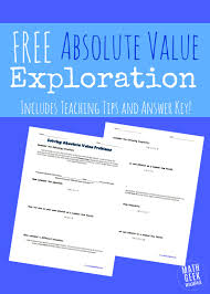 this free absolute value exploration will help you teach absolute value problems in a way that