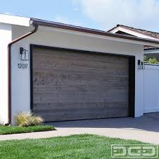 vintage wood garage door in a simple modern farmhouse style