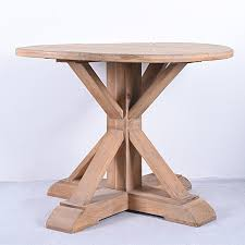 pedestal french antique sy rustic solid wood round dining table