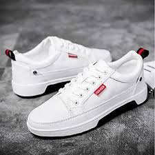 <b>Men's</b> Shoes PU <b>Summer Comfort</b> Sneakers White / Black ...