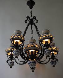 antique delft chandelier unique and beautiful antique delft blue oil lamp