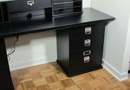 pottery barn bedford rectangular office desk. Pottery Barn Bedford Desk With 3 Drawer Cabinet Rectangular Office N