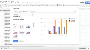 Google Spreadsheets Making A Bar Graph