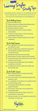 new interesting visual on learning styles and study tips  new interesting visual on learning styles and study tips educational technology and mobile learning