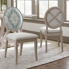 custom dining oval x back uph side chair