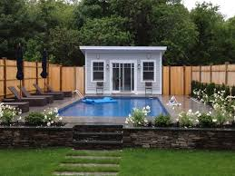 Small Pool House with Furniture SMALL HOUSES