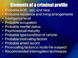 criminal psychology ppt video online elements of a criminal profile
