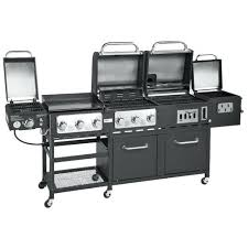 outdoor gourmet supreme 7 burner propane and charcoal grill griddle smoker combo outside fire pit