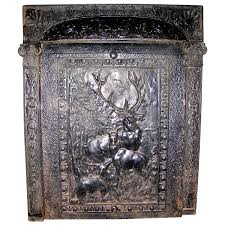 cast iron summer cover fireplace insert with deer