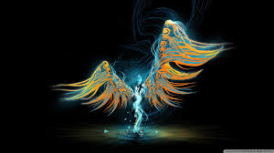 Download abstract figure with wings ...