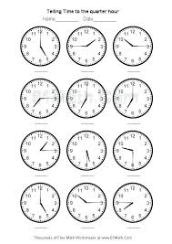 telling time to the minute worksheets – streamclean.info