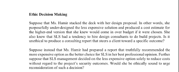Professional Other Words Solved Ethic Decision Making Suppose That Ms Hamir Stack